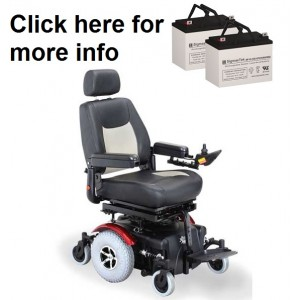 Rascal 327 Power Wheelchair Replacement Battery (2 Batteries)