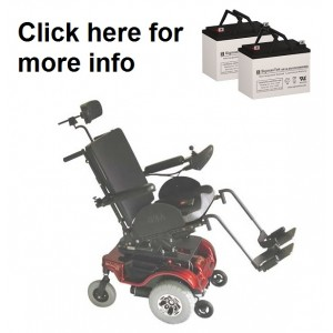 Rascal 330 Tilt Power Wheelchair Replacement Battery (2 Batteries)