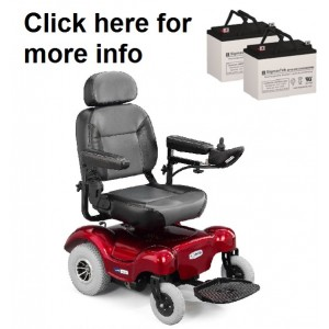 ActiveCare Renegade and Renegade P24 Power Wheelchair Replacement Battery (2 Batteries)