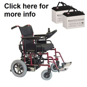 Shoprider Folding Power Chair FPC Replacement Battery (2 Batteries)