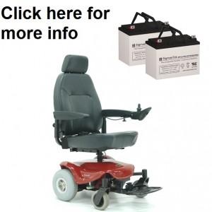 Shoprider Streamer Sport Wheelchair Replacement Battery (2 Batteries)