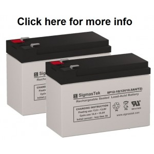 SigmasTek SP12-10 Sealed Lead Acid AGM Battery (2 Batteries)