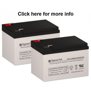 SigmasTek SP12-12 Sealed Lead Acid AGM Battery (2 Batteries)