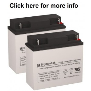 SigmasTek SP12-18 Sealed Lead Acid AGM Battery (2 Batteries)