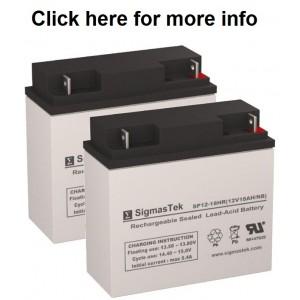 SigmasTek SP12-18 Sealed Lead Acid AGM Battery (2 Batteries)