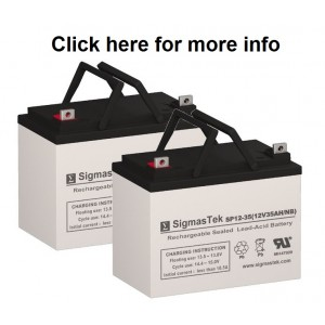Pride Mobility Quantum Dynamo ATS Replacement Battery (2 Batteries)