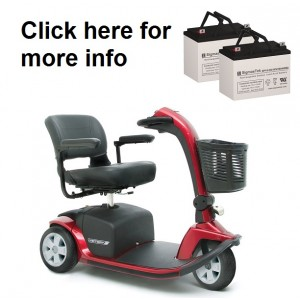 Pride Mobility Victory 10, 3 or 4 Wheel Scooter (2 Batteries)